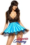 Beauty Night Fashion Eve Babydoll met masker turquoise _18