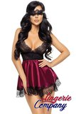 Beauty Night Fashion Eve Babydoll met masker paars_18