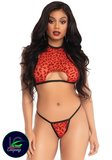 Leg Avenue Leopard crop top en g-string rood_17