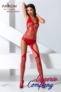 Passion Catsuit stretchy mesh stof rood