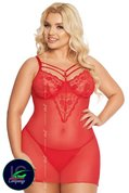 Softline-Plus-Size-Collection-Babydoll-Rood