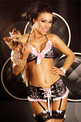 Flirty-Set-schwarz-pink-S-M-L-XL