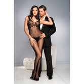 Floral-tube-top-set-print-crotchless-bodystocking