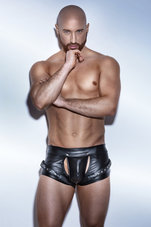 Black-Powerwetlook-Easy-access-shorts