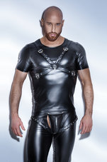 Black-Powerwetlook-T-Shirt-with-harness