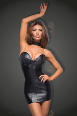 Black-Power-wetlook-minidress-with-eco-leather-cups