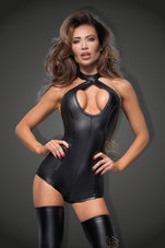 Black-Short-power-wetlook-body-with-lace-cleavage