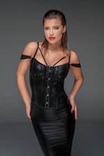 Black-Corset-with-lace-and-powerwetlook