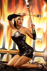 Fire-Dress-schwarz-S-M-L-XL
