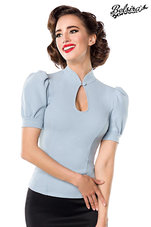 Jersey-Blouse-Blauw