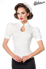 Jersey-Blouse-Wit