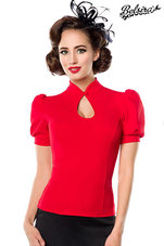 Jersey-Blouse-Rood