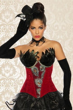 Burlesque-Corsage-Rood