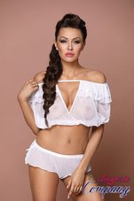 Excellent-Beauty-witte-Babydoll-Set