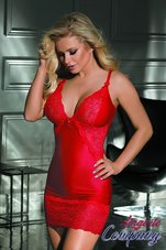 Excellent-Beauty-rode-Babydoll-met-kant