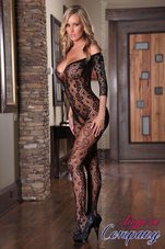 Provocative-Lingerie-zwarte-net-Catsuit